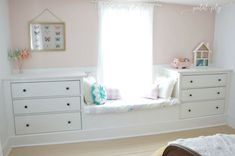 IKEA dresser hack built-in window seat Petal and Ply by katrina