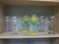 Hand painted wine glasses. $35.00 pair harrisartstudio.com