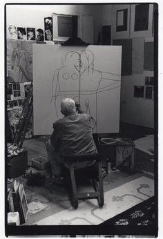 R.B. Kitaj began his paintings with drawing. An...