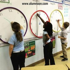 ⏰Race the Clock⏰ This was a fun activity for my kiddos. I would shout out a time and whoever illustrated it correctly gained a point for their team. We used ⭕hula hoops⭕ to portray the clock outline. Primary Teaching, Primary Maths, Teaching Time, Student Teaching, 2nd Grade Classroom, Math Classroom, Kindergarten Math, Future Classroom, Classroom Themes