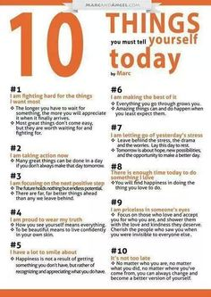 10 things u must tell yourself today