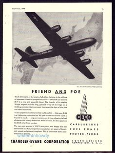 1944 WW II BOEING B-29 Superfortress Army Air Forces Photo WWII WW2 CECO AD
