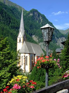 St. Vincent is one of Austria's most beautiful and famous churches. in Heiligenblut, Carinthia.