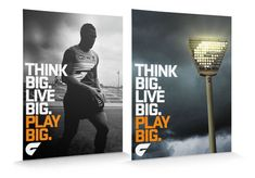 GWS Giants adverts - specifically loving the one on the right with the lights arranged the same as the logo