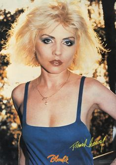 Deborah Harry Year: 1980 Info: Official Fan Club Poster. Photo by Chris Stein  Size: 51cm x 71cm http://www.rip-her-to-shreds.com/archive_pics_posters_view.php?pf=1980_4