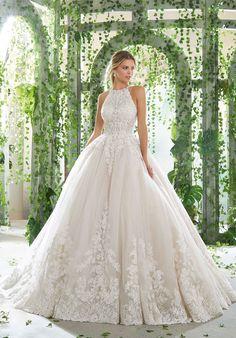 Primavera Wedding Dress Diamanté and Crystal Beaded 3a5cd324d812