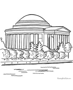 Jefferson Memorial Coloring Pages