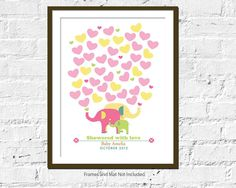 PRINTABLE Guestbook Baby Shower Poster  Elephant by UrbanTickle, $18.00
