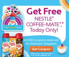 .75 off coupon for a bottle of Nestlé Coffee-mate Flavored Creamer