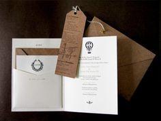 Oh So Beautiful Paper: Caitlin + Joseph's Vintage Aviation Wedding Invitations