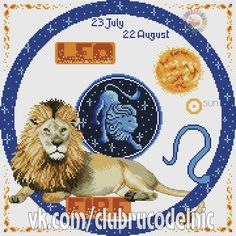 "Zodiac Leo Leo"" by Selenyty Cross Stitch Pattern Horoscope Signs, Zodiac Signs, Cross Stitch For Kids, Leo Zodiac, Cross Stitch Patterns, Photo Wall, Kids Rugs, Embroidery, Cards"