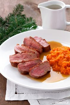 Perfect Duck Breast with Orange Sauce Polish Recipes, Polish Food, Poultry, Stew, Risotto, Sausage, Pork, Fish, Dinner