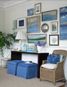 Gallery wall in Southhampton Showhouse
