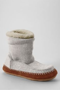 Women's Sweater Bootie Slippers from Lands' End