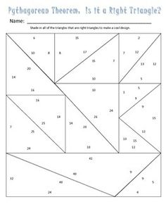 Pythagorean Theorem Math Lib  Math Activities And Product Math