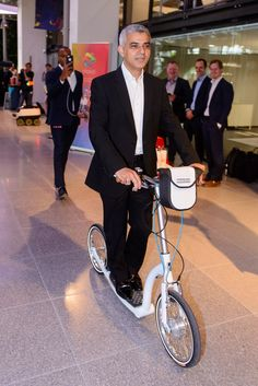 Mayor of London, Sadiq Khan enjoying the smooth ride