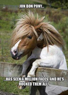 Jon Bon Pony ... has seen a million faces and he's rocked them all!