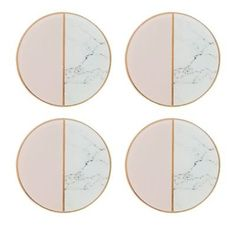 These stylish and contemporary coasters from Debenhams are ideal for any home. In a circle shape, they feature a sleek marble effect in gold and pink hues. Marble Interior, Gold Interior, Decoration Inspiration, Interior Design Inspiration, Cosmo, Gold Furniture, Gold Home Decor, Marble Effect, Art Deco