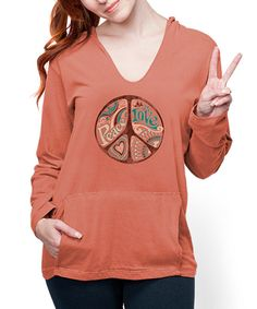 Look at this earth creations Pumkin Party Peace Harmony Organic Hoodie - Women on #zulily today!