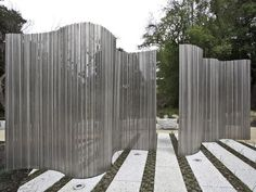 Transparant en toch scheidend Stainless Steel Garden Sculpture/Screen…