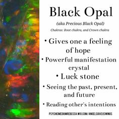 Black Opal crystal meaning