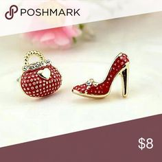 Adorable Shoe and Purse Earrings New red pair of a shoe and purse earrings. Jewelry Earrings