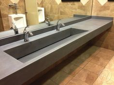 Commercial Restroom Sinks : Bathroom Concrete Sinks & Countertops on Pinterest Concrete Sink ...
