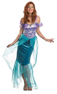 Adult Deluxe Ariel Mermaid Costume  Disney Princess Costumes