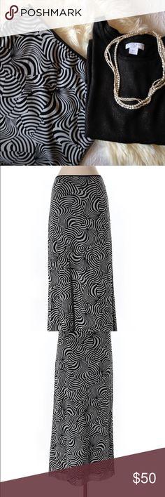 EUC Vivienne Tam Maxi Skirt Black White Size 1 sm Gorgeous maxi skirt in pristine condition. Vivienne Tam Skirts Maxi