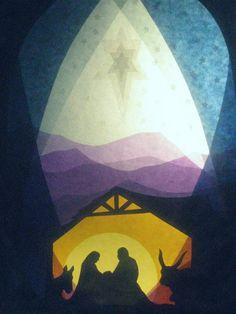 Fensterschmuck - Fensterbilder Weihnachtskrippe and star - ein Designerstück von art4windows bei DaWanda