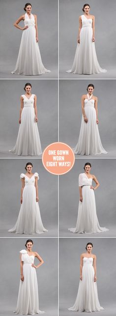 Jenny Yoo Monarch Bridal Gown - one gown eight ways!