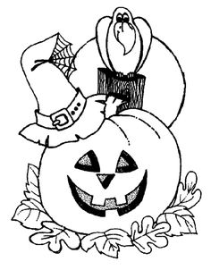 halloween coloring pages for preschoolers - Free Large Images