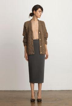 Selma Cardigan, Sophie Shirt and Long Pencil Skirt | Samuji Resort 2015 Collection