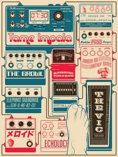 Rad concert poster for Tame Impala's show at The Vic Theatre/Chicago ...