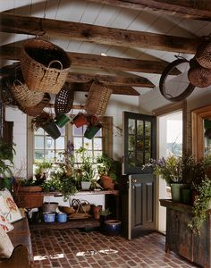 There are many ways to use your garden shed other than for gardening. Or, you could use it as a craft room for creating all of those wonderful things that are fun Cozy Cottage, Cottage Style, Garden Shed Interiors, Garden Sheds, Estilo Interior, Shed Storage, Mudroom, Future House, Outdoor Living