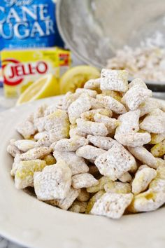 FOR REELZ, folks!!! this is lemonade chex mix!!!  So fun!  Lemonade Chex mix