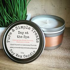 A personal favorite from my Etsy shop https://www.etsy.com/listing/268684950/day-at-the-spa-10oz-soy-candle