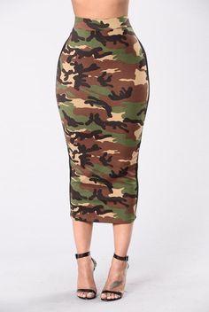 You Can Ride Shotgun Skirt - Camo