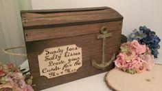 beach wedding card box anchor wedding reception card box nautical on Etsy, $115.00