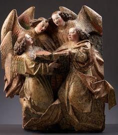 Choeur d'anges, Pays-Bas du sud, vers 1450, © De Backker
