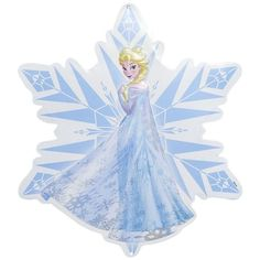Disney's Frozen Elsa Snowflake Wall Art (28 AUD) ❤ liked on Polyvore featuring home, home decor, wall art, blue, blue wall art, metal wall art, disney wall art, blue home decor and metal home decor