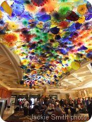 Glass sculpture flowers - Fiori Di Como by Dale Chihuly inside the Bellagio Hotel, Las Vegas.