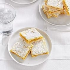 Bake-Sale Lemon Bars Recipe- Recipes The recipe for these tangy lemon bars comes from my cousin Bernice, a farmer's wife famous for cooking up feasts. Top 10 Desserts, Potluck Desserts, Lemon Desserts, Lemon Recipes, Cookie Desserts, Baking Recipes, Cookie Recipes, Delicious Desserts, Dessert Recipes
