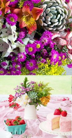 Beautiful mixed bouquets from The Bouqs, grown in California.