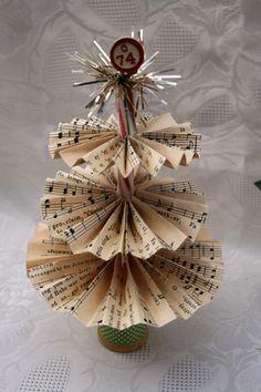 Tante idee Shabby per realizzare graziosi alberelli natalizi di carta