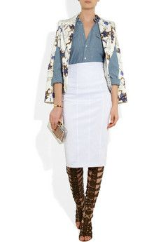 ALTUZARRA Acacia printed stretch-cotton blazer