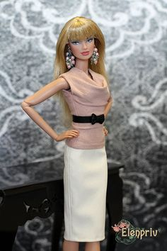 ELENPRIV pink ultrasuede top for Fashion royalty FR2 and similar body size dolls. by elenpriv on Etsy