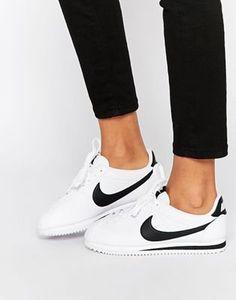 Zapatillas de deporte blancas con acabado en cuero Cortez de Nike