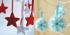 Manualidades fáciles para la decoración de Navidad 2014 2015, ideas originales con pinzas, tela, fieltro y trapillo y materiales reciclados