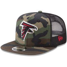 f27d0bab474 Atlanta Falcons New Era Trucker 9FIFTY Snapback Adjustable Hat - Woodland  Camo Black